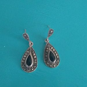 Vintage Sterling Silver an Marcasite Earrings